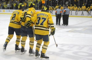 Mac Bennett will join former college D partner Greg Pateryn on the Hamilton blueline (PHOTO: Salam Rida/Michigan Daily)
